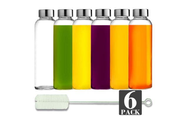 Brieftons Best Glass Water Bottles